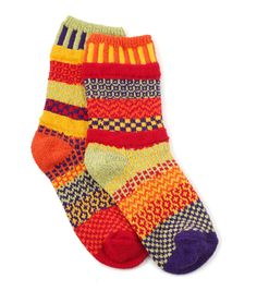 DAFFODIL SOCKS | Colorful, Fun Pattern Mismatched Cotton Foot Warmers | UncommonGoods