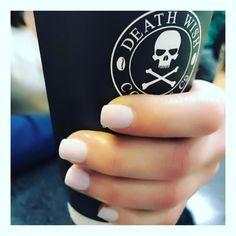Nails+DeathWishcofee= Perfect 👌🏻 #saratoganails #ancnails #perfectnaturalwhite #tropicalparadiseanc #deathwishcoffee #saratogacofeetrader