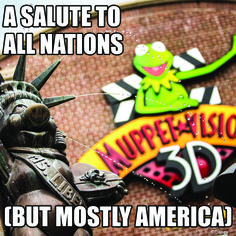 A salute to all nations, but mostly America! #WaltDisneyWorld #vacation #muppets