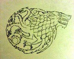 Targaryen & Stark tattoo design