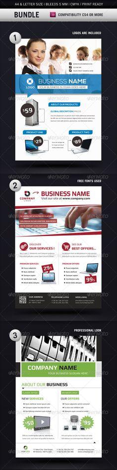 Business Flyer Templates A4 & Letter Bundle - Commerce Flyers
