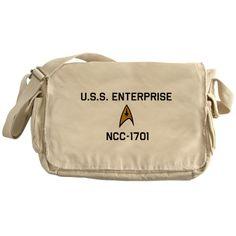 Star Trek USS Enterprise NCC-1701 Messenger Bag - http://geekarmory.com/star-trek-uss-enterprise-ncc-1701-messenger-bag/