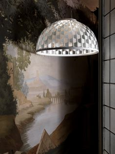 The #pattern extends over several layers that cover the #LED source, reflecting the light through a delicate play of colours and transparencies. Discover #Dome, designed by Analogia Project: WWW.SLAMP.COM