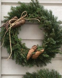Your place to buy and sell all handmade things Cottage Christmas, Rustic Christmas, Winter Christmas, Christmas Home, Christmas Crafts, Christmas Decorations, Homemade Christmas Wreaths, Xmas Wreaths, Vintage Wreath