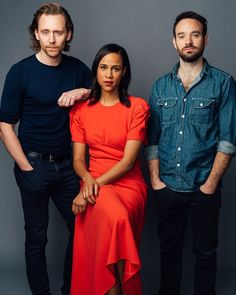 Tom Hiddleston, Zawe AAshton and Charlie Cox photographed by Jammi York for the BUILD Series in New York City on November Thomas William Hiddleston, Tom Hiddleston Loki, Mandy Musgrave, Toms, Photoshoot, Black And White, Betrayal, Loki Laufeyson, Beautiful Person