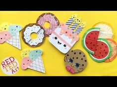 5 Easy Kawaii Bookmark DIYs - DIY Ice Cream, Cookie, Cupcakes, Melon Bookmarks - YouTube