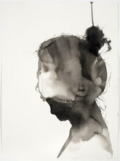 Psychological Portrait using ink by artist Samantha Wall
