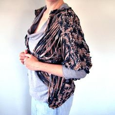 pile of rags knitted open weave cardigan - womens high fashion - avant garde. $148.00, via Etsy.  I have been admiring this awesome thing for a while.