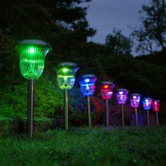 Solarlampen Garten contemporary bunt dekorativ praktisch