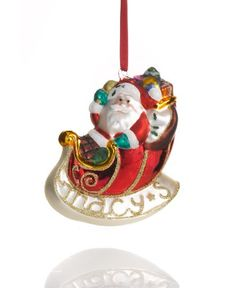 Holiday Lane Christmas Ornament Macy's Santa