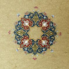 Art in Parsi — Persian Floral Art Persian Pattern, Persian Motifs, Islamic Art Pattern, Pattern Art, Motif Oriental, Illumination Art, Arabesque Pattern, Iranian Art, Turkish Art