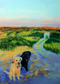 """""""Lets Go!!"""" - Original Fine Art for Sale - © Jill Bates"""