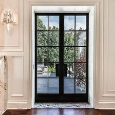 Thermal Aluminum French Door - Steel Look from Arcadia Custom The Effective Pictures We Offer You About french doors entrance A quality picture can tell you many things. French Doors Bedroom, French Doors Patio, Patio Doors, French Windows, Front Door Entrance, Glass Front Door, Entry Doors, Door With Window, Iron Front Door