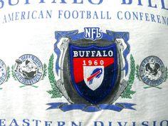 Large Buffalo Bills Gray Tee Shirt NFL Football 1960 Patch Nutmeg Mills Vintage #ShortSleeve