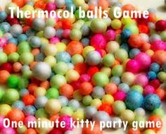 Hello there ! Today, we have another super easy game to share with you -A 1 minute kitty party game played with thermocol balls and all-pins. In one minute make maximum pairs of both and win! It's that easy. Easy to play and easy to arrange at home, great 1 minute kitty party table game! Checkout this fun game here :