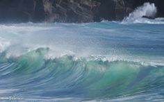 Waves at Porthcurno