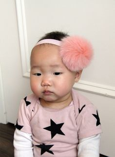Bari Lynn Pompom Baby Headband