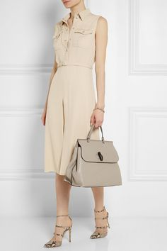 An elegant and versatile dress that looks perfect for a tropical vacation.  Belted silk crepe de chine shirt dress - by Gucci #womensfashion #nattygal