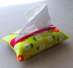 Pocket Tissue Holder - just made this and it took like ten minutes! super easy, and great for a beginner like me!