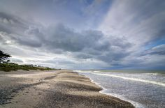 Rosslare Strand looking north towards the Burrow. Kelly's Hotel on the left. Pic by David Morrissey
