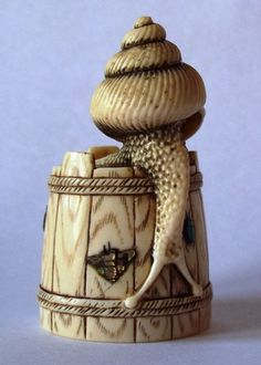 Snail on a Bucket with Inlays