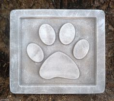 Plastic animal dog puppy plaque mold garden ornament stepping stone mould