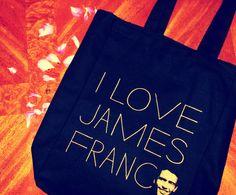 I Love James Franco Tote $20 #giftguide