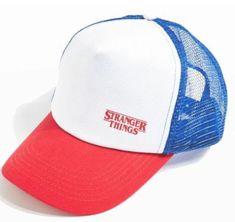 Stranger Things Trucker Hat Retro Dustin Red White Blue Snapback Vintage Cap #Trucker #Trucker