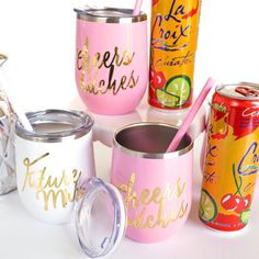 These party mugs are a perfect bachelorette party favor! | Ideas For An Unforgettable Bachelorette Party | Kennedy Blue