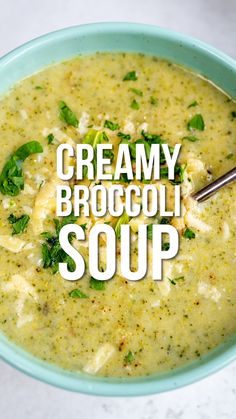 This Broccoli Cheddar Soup tastes incredibly creamy and indulgent but it's actually not only healthy but slimming friendly too! Only 200 calories per serving, Syn Free using some of your HEA allowance for milk and cheese. Broccoli Soup Recipes, Healthy Soup Recipes, Vegetarian Recipes, Cooking Recipes, Healthy Broccoli Soup, Vegetarian Soup, Broccoli Salad, Clean Eating, Healthy Eating