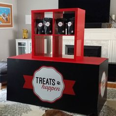 Working on the next version of the Treats Happen road show booth. or