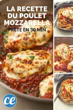 Rapide, Facile et Trop Bon : La Recette du Poulet Mozzarella à la Sauce Tomate. Fast, Easy and Too Good: The Chicken Mozzarella Recipe with Tomato Sauce. Tomato Sauce Recipe, Sauce Recipes, Chicken Recipes, Cooking Recipes, Recipe Chicken, Mule Recipe, Mozzarella Chicken, Kids Meals, The Best