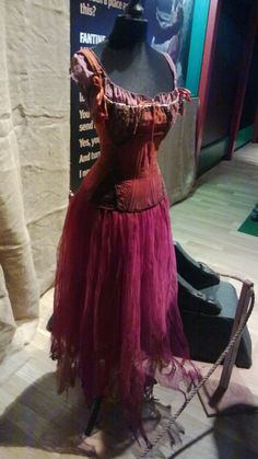 Anne Hathaway's prostitute costume from Les Miserables. Exhibition at Portsmouth Historic Dockyard. #film #costume