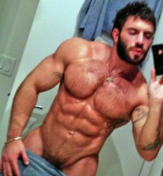 Bearded sculpted hunk