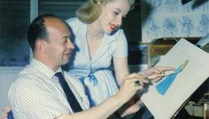 "Animating director Marc Davis and Mary Costa, the voice of Princess Aurora, look at a sketch in the early stages of making Walt Disney's ""Sleeping Beauty. Sleeping Beauty 1959, Disney Sleeping Beauty, Dreamworks, Marc Davis, Disney Concept Art, Vintage Disneyland, Renaissance Men, Walt Disney Studios, Princess Aurora"