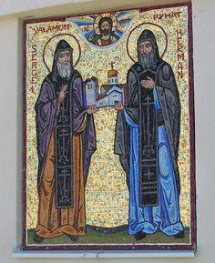 Ernst Johner - Sergei und Herman die Gründer des Klosters Valamo-----Valamon luostarin perustajat Sergei ja Herman