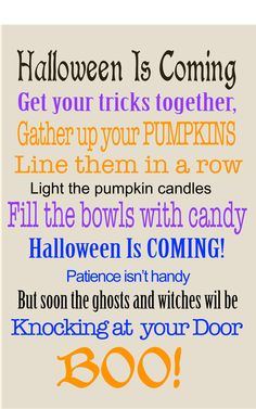 Halloween is Coming! Get Your Tricks Together