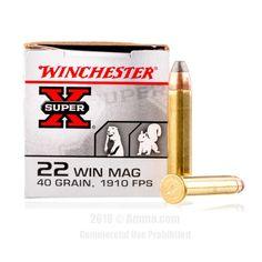 Winchester 22 WMR Ammo - 50 Rounds of 40 Grain JHP Ammunition  #22WMR #22WMRAmmo #Winchester #WinchesterAmmo #Winchester22WMR #JHP