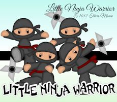 Little Ninja Warriorsvg, gsd, dxf, wpc, ai, pdf, png, and jpeg