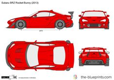 Blender 3d, Subaru Brz Rocket Bunny, Boy Sleepover, Bike Cart, Toyota 86, Car Vector, Tuner Cars, Car Sketch, Car Drawings