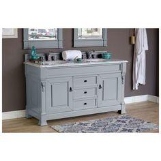 """Best Deal - James Martin Brookfield 60"""" Double Bathroom Vanity Cabinet, Urban Gray 147-114-5691"""