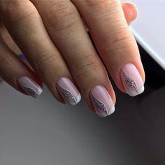 Nail art Christmas - the festive spirit on the nails. Over 70 creative ideas and tutorials - My Nails Gradient Nails, Pink Nails, My Nails, Acrylic Nails, Bride Nails, Wedding Nails, Short Nail Designs, Nail Art Designs, Fingernail Designs