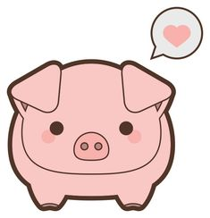 Cute Pig Icon Barnyard animal icons pig