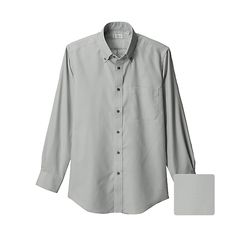 MEN Dry Easy Care Oxford Long Sleeve Shirt