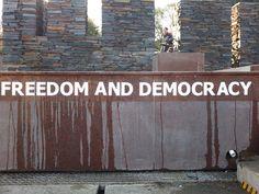 Freedom and Democracy - Soweto Keep The Faith, Footprint, South Africa, Dawn, Freedom, World, Liberty, The World, Political Freedom
