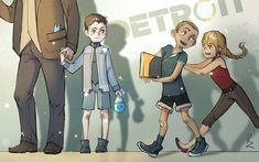 Connor, Markus and Kara Detroit Being Human, Detroit Become Human Connor, Video Game Art, Video Games, Luther, Quantic Dream, Look At My, Becoming Human, I Like Dogs
