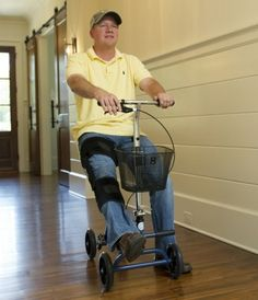 Evolution Seated Knee Scooter TheEvolution Seated Knee Scooter Walker from PRO2Medical.comisthe best mobilealternative to crutches. The Evolution Mobility S