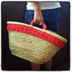 Lady Crochet Ethnic Bag, Bamboo Basket, Diy Tote Bag, Crochet Purses, Cute Bags, Hippie Chic, Sewing Tutorials, Fashion Bags, Straw Bag