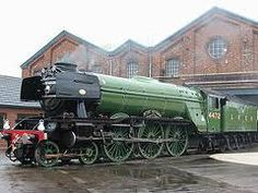 :Flying Scotsman in Doncaster. Flying Scotsman taken at the Doncaster Works Open day the anniversary of the Plant works. The Flying Scotsman was built in Doncaster, Diesel, Train Car, Train Tracks, Old Steam Train, Flying Scotsman, Steam Railway, Bonde, Old Trains, British Rail