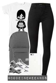 """""""10/23/15"""" by codeineweeknds ❤ liked on Polyvore featuring Herschel Supply Co., J Brand, NIKE and Apple"""